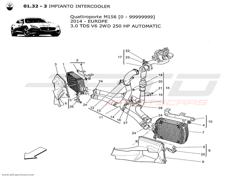 Maserati Quattroporte V6 3 0lsel Auto Air Intake