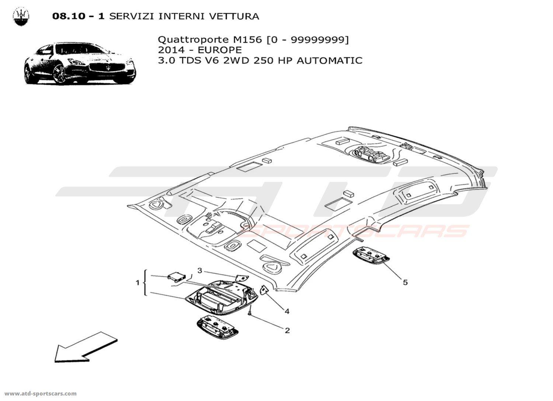 Maserati Quattroporte V6 3.0L Diesel Auto 2014 INTERNAL
