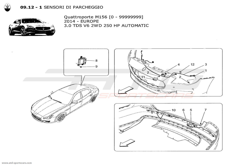 Maserati Quattroporte V6 3.0L Diesel Auto 2014 PARKING