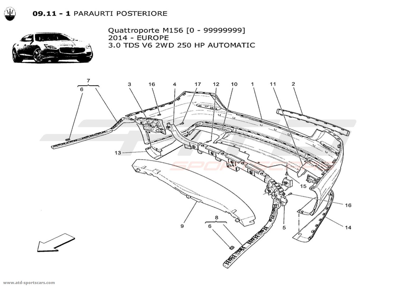 Maserati Quattroporte Parts Diagram. Maserati. Auto Parts