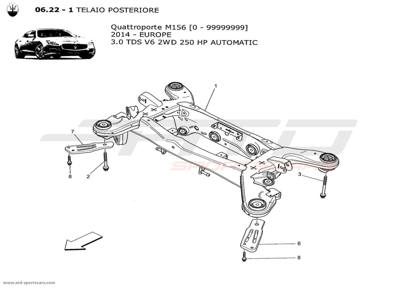 Maserati Quattroporte V6 3.0L Diesel Auto 2014 REAR