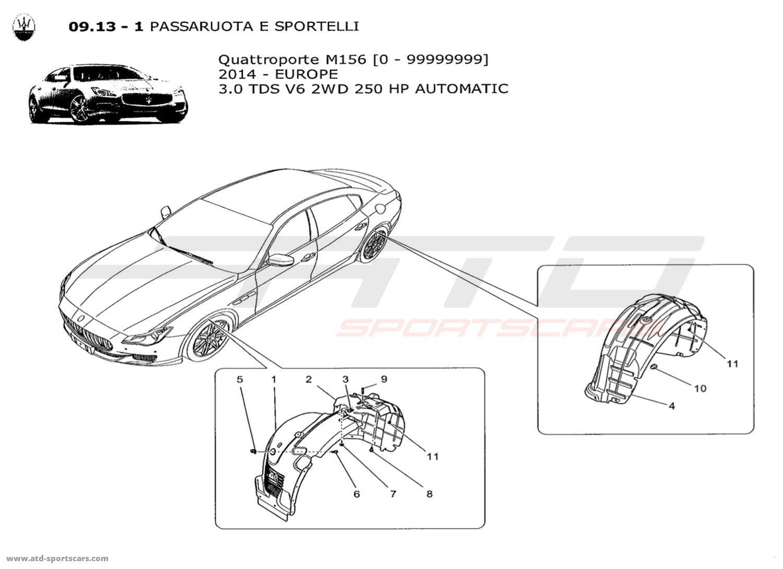 Maserati Quattroporte V6 3.0L Diesel Auto 2014 WHEELHOUSE