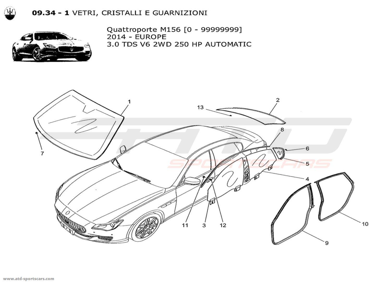Maserati Quattroporte V6 3.0L Diesel Auto 2014 WINDOWS AND