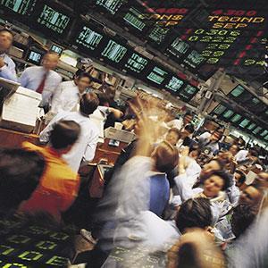 Stock traders (copyright Digital Vision/SuperStock)