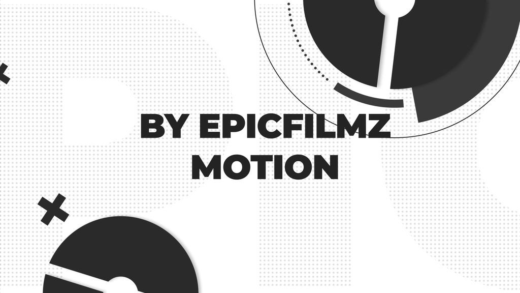 Monochrome Typography Opener After Effects templates