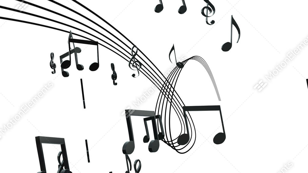3D CG Animation Of Sheet Music And Note Stock Animation