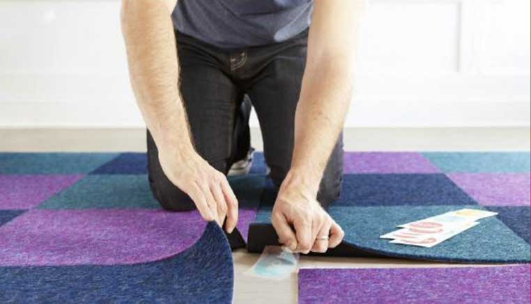 how to install commercial carpet tiles