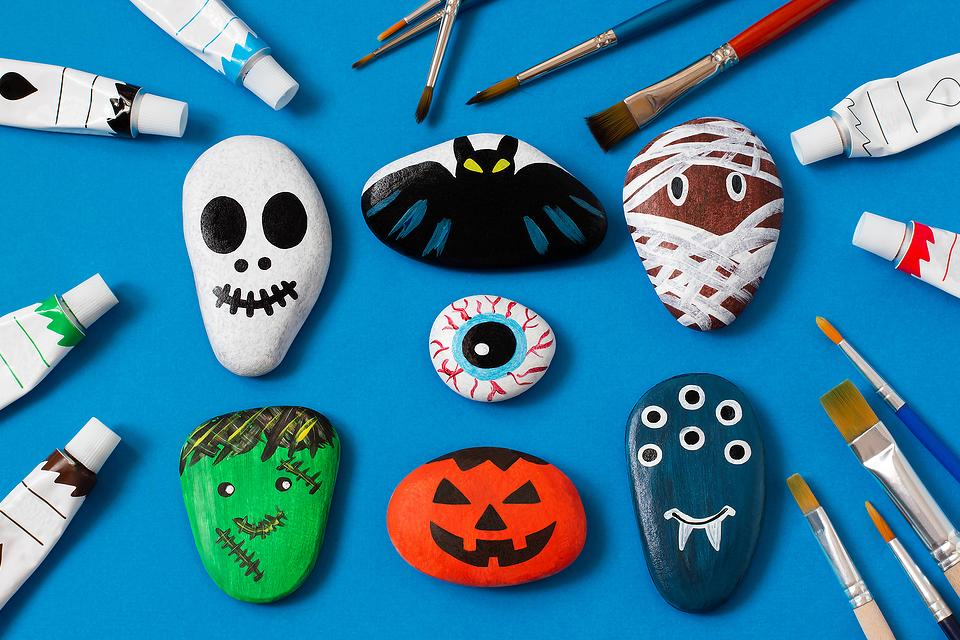 Well, those things tend to get lost or you might not have any garden markers for the plants you've grown from seeds. Rock Painting Ideas Halloween Rock Painting Is An Inexpensive Craft For Kids Adults Holidays 30seconds Mom