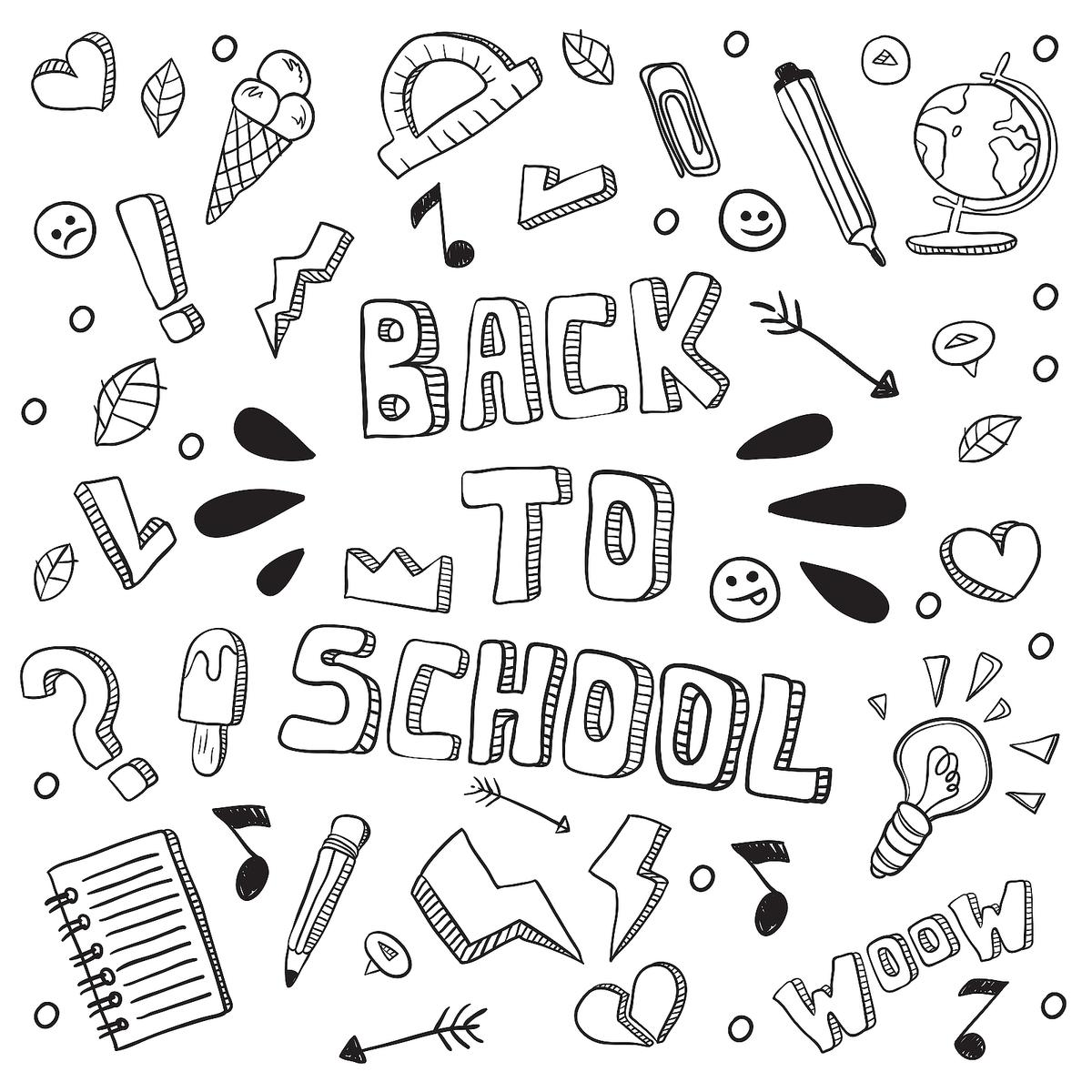 Back To School Coloring Pages Fun School Themed