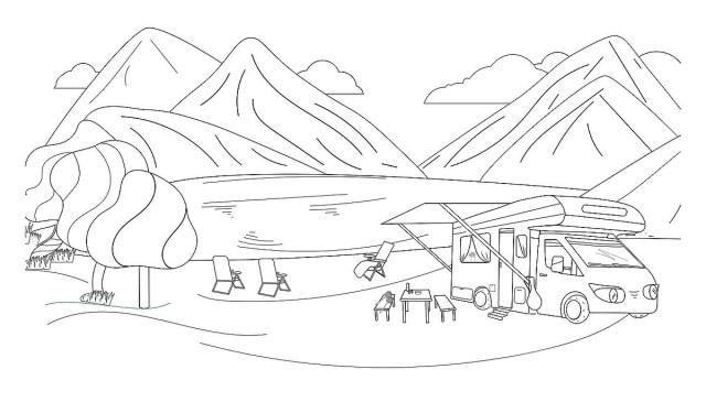 Camping Coloring Pages for Families: Fun & Free Printable Coloring
