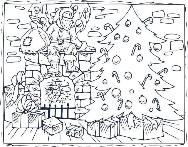 Christmas Coloring Pages for Kids & Adults: 22 Free Printable