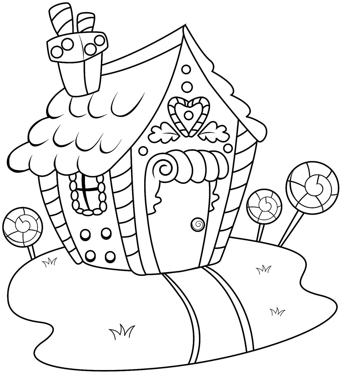Gingerbread House Coloring Pages: Printable Coloring