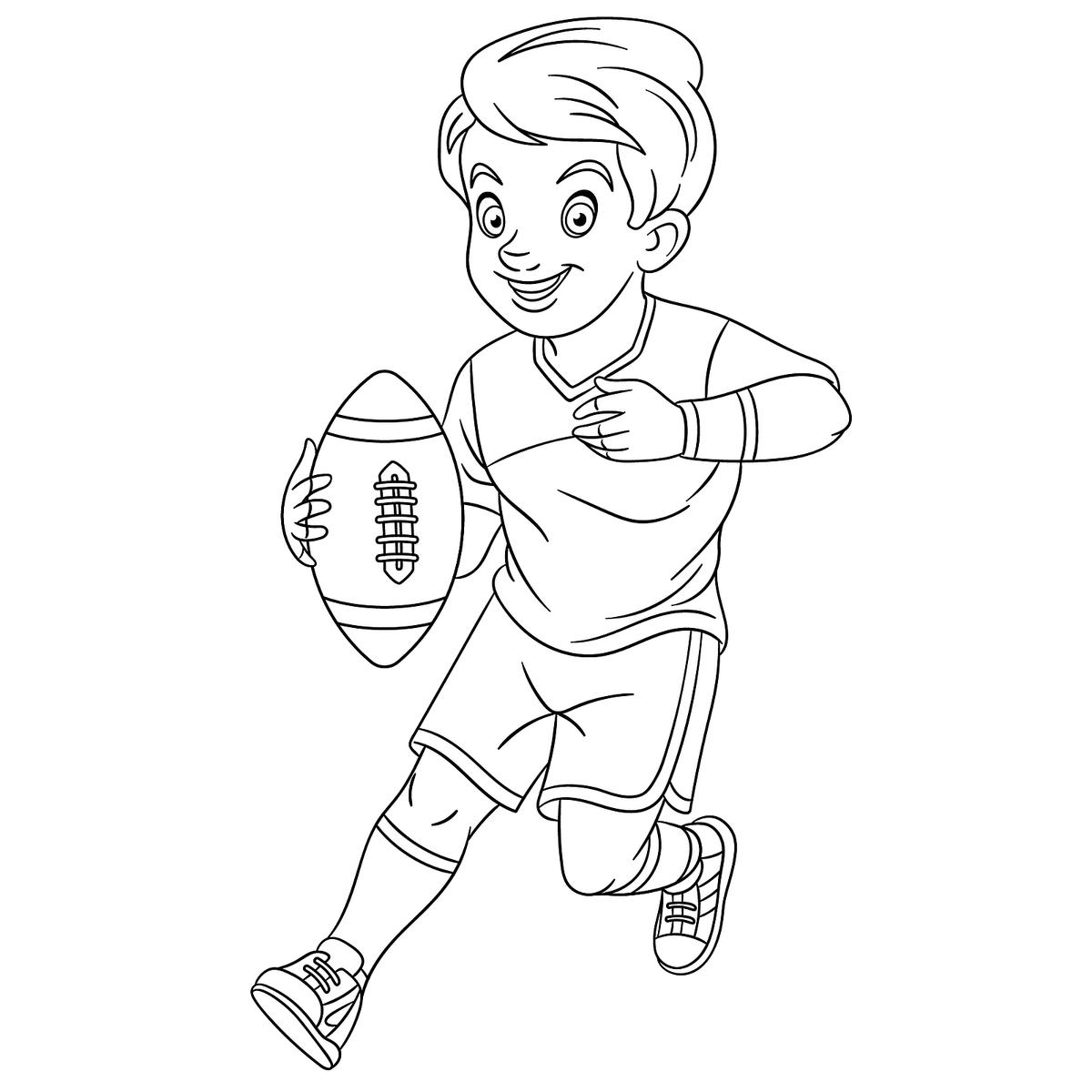 Football Coloring Pages: Printable Sports Coloring