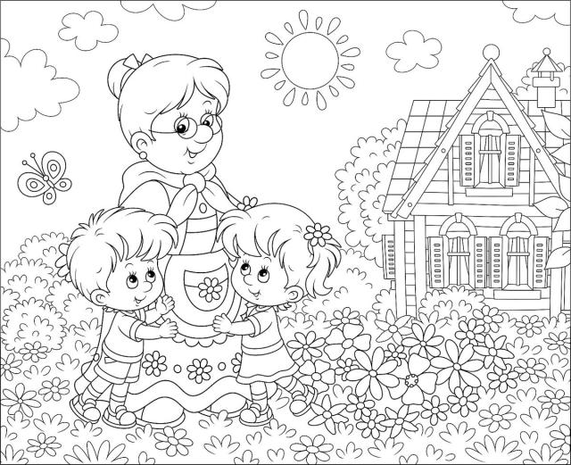 Grandparents Coloring Pages: Free & Fun Printable Coloring Pages