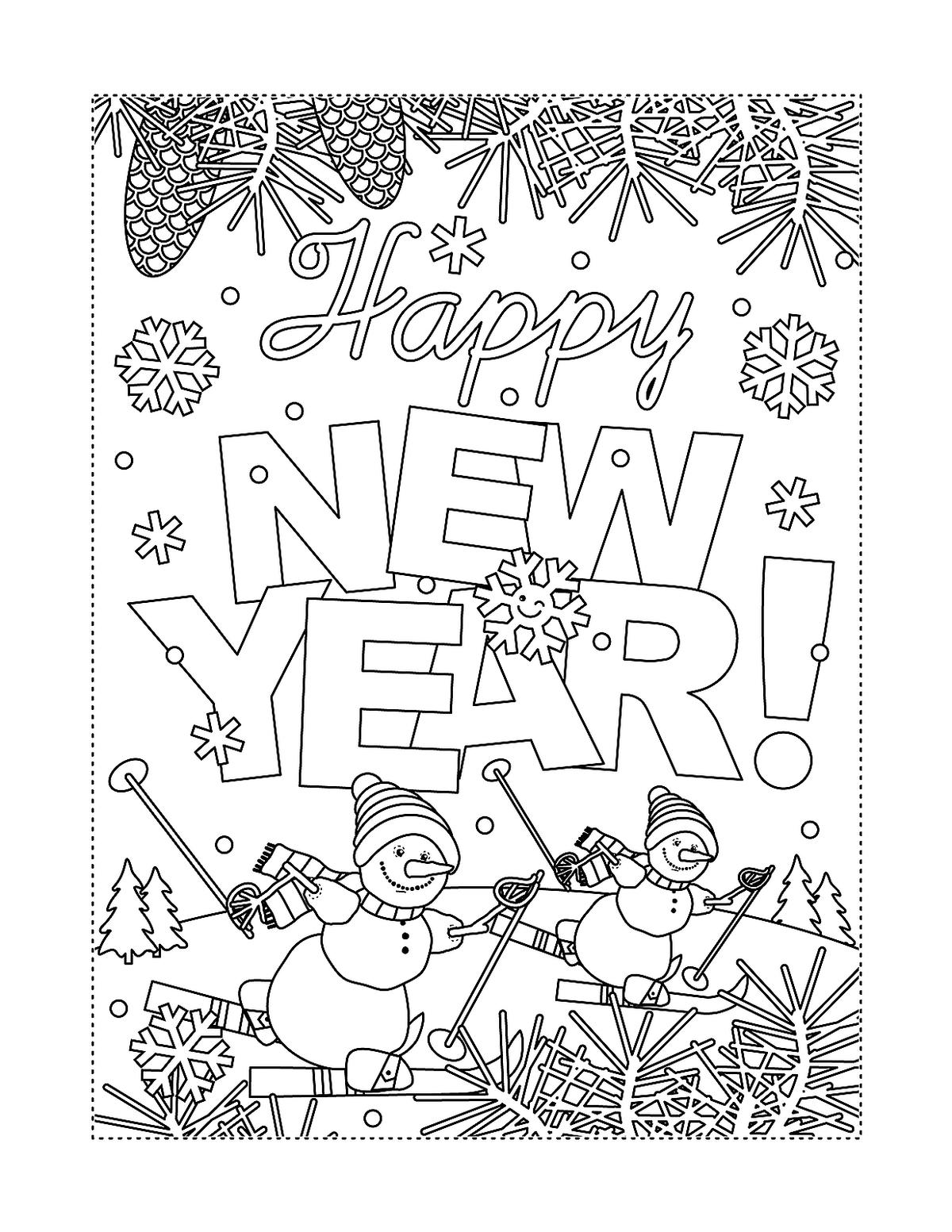 New Year Amp January Coloring Pages Printable Fun To Help
