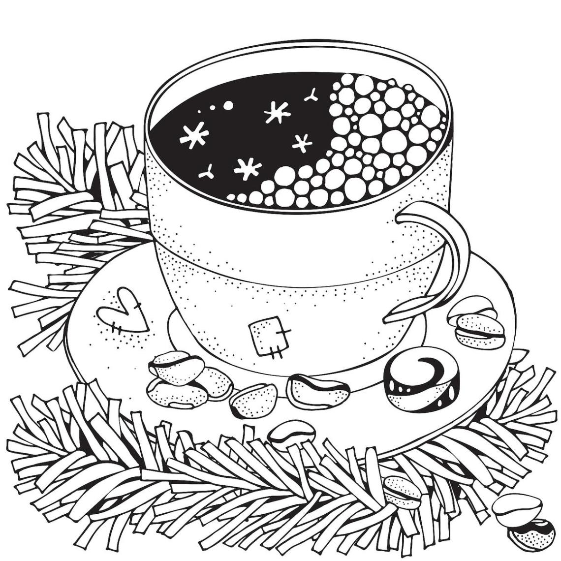 Winter Puzzle & Coloring Pages: Printable Winter-Themed ... | winter coloring pages for adults