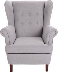 Buy Collection Martha Fabric Wingback Chair - Grey at ...