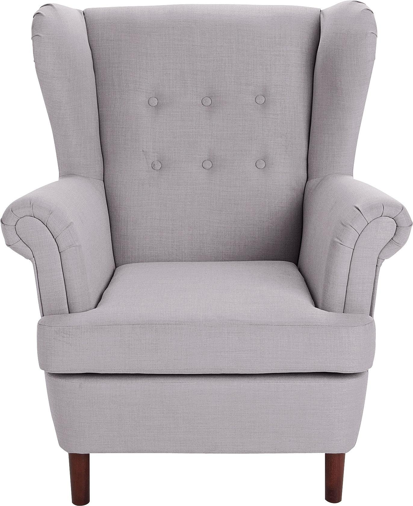 light grey chair wooden chairs for restaurant buy argos home martha fabric wingback