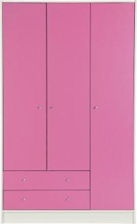 Buy HOME Malibu 3 Door 2 Drawer Wardrobe - Pink & White ...