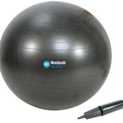 Chair Gym Argos Folding Saucer Moon Hexagon Buy Men S Health Black Ball 75cm Balls
