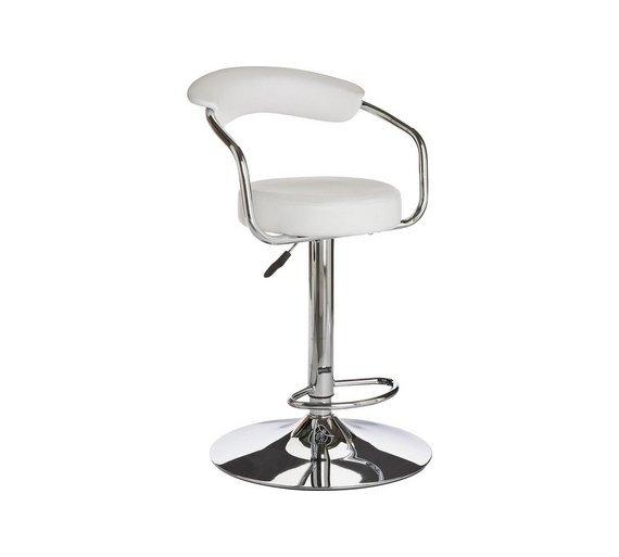 chair stool argos experimental design buy home executive gas lift bar w back rest white