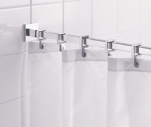 buy croydex square shower curtain rod and rings chrome plated shower poles argos