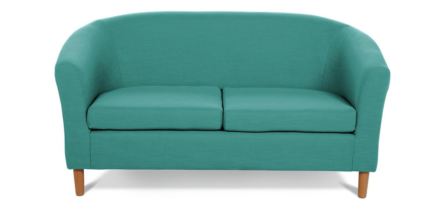 teal sofas modular sectional buy argos home 2 seater fabric tub sofa