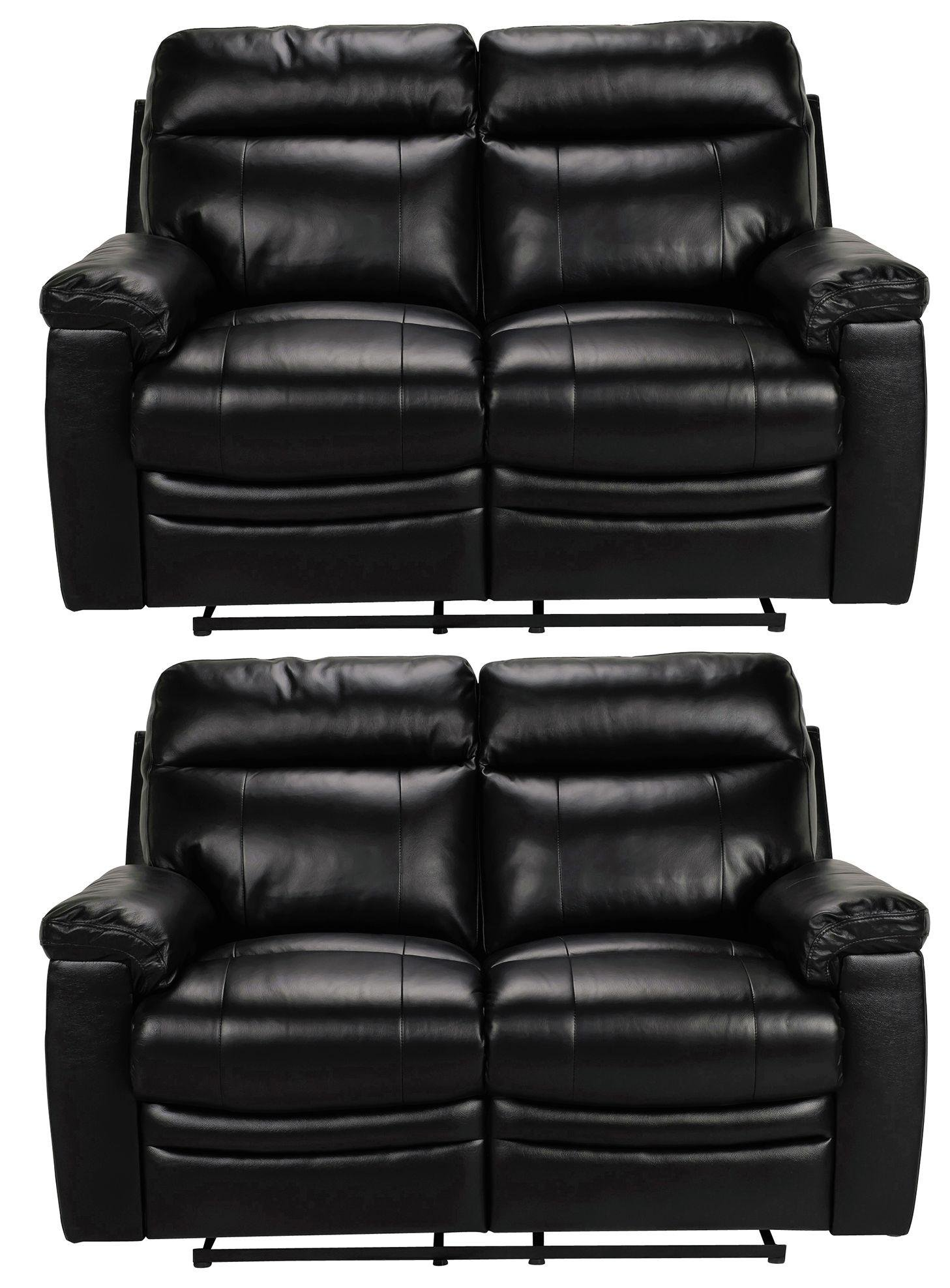 argos black recliner sofa how to fix leather scratches paulo regular and chair