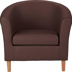 Leather Tub Chair Red Heel Shoe Buy Argos Home Faux Brown Armchairs And