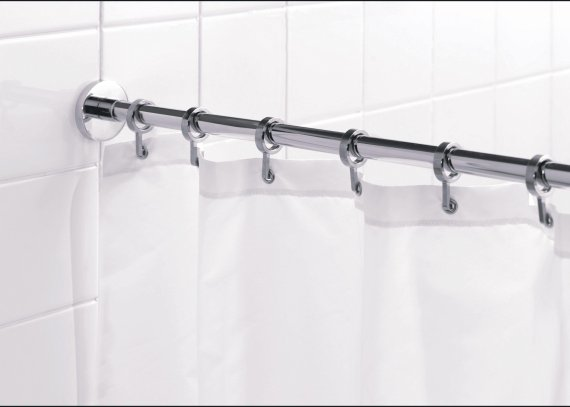 Buy Croydex Round Shower Curtain Rod And Rings Chrome At Argos