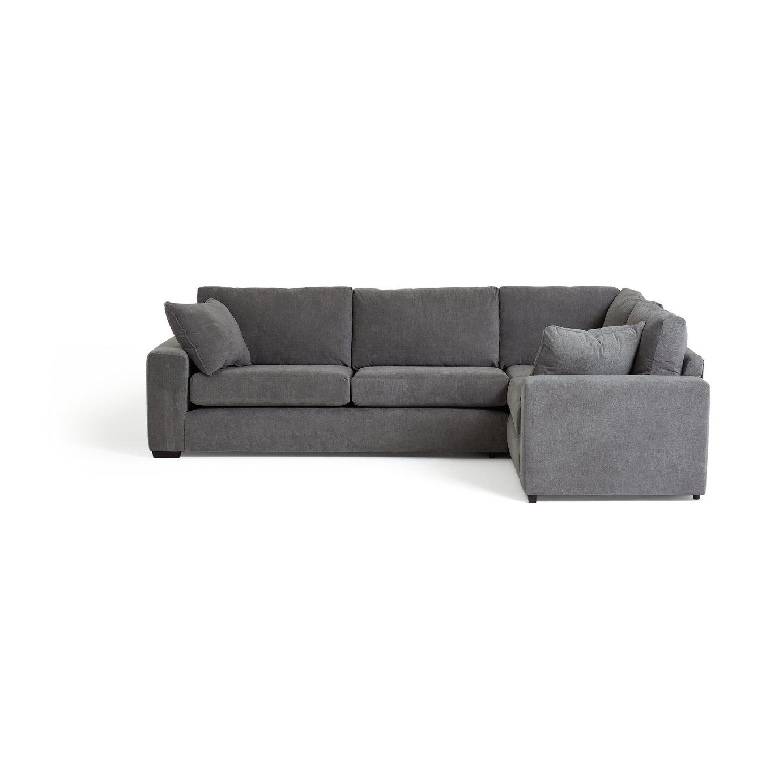 grey fabric sofa next second hand sectional sofas buy argos home eton right corner charcoal