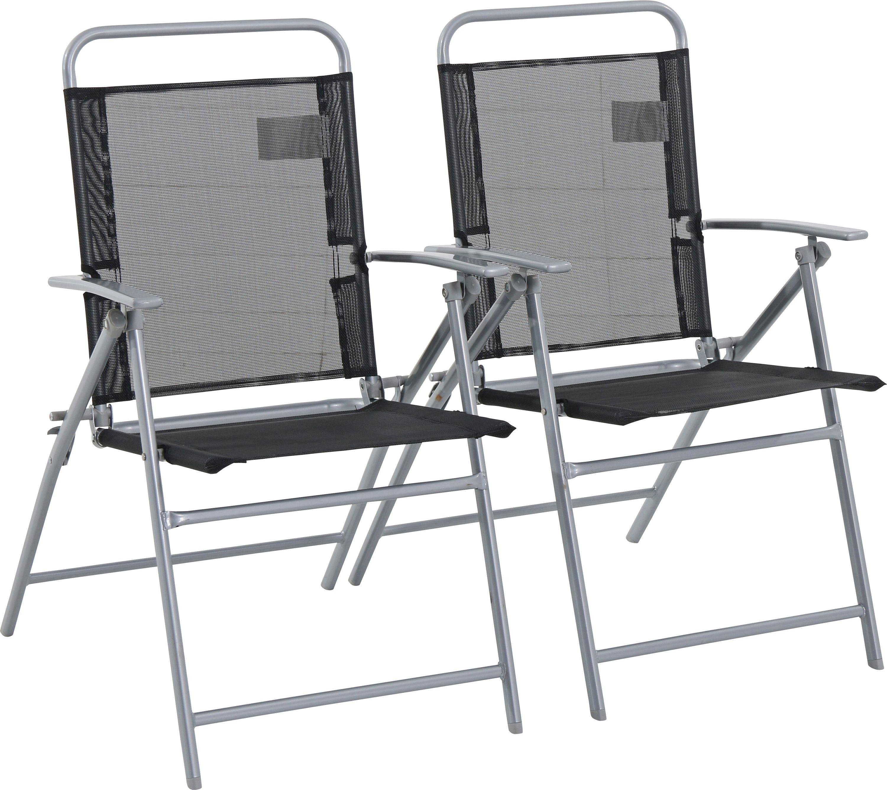 folding chair uk high for kitchen counter buy argos home atlantic steel chairs set of 2 garden
