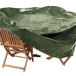 Green Patio Chair Covers Wedding For Buy Argos Home Heavy Duty Oval Set Cover Garden Furniture