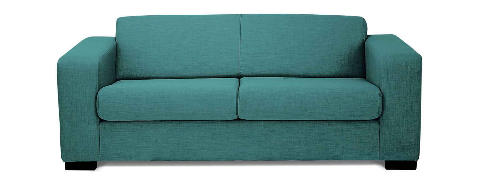 argos ava fabric sofa review milano leather reviews buy home compact 3 seater teal sofas
