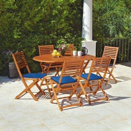 Buy Argos Home Newbury 6 Seater Wooden Patio Set