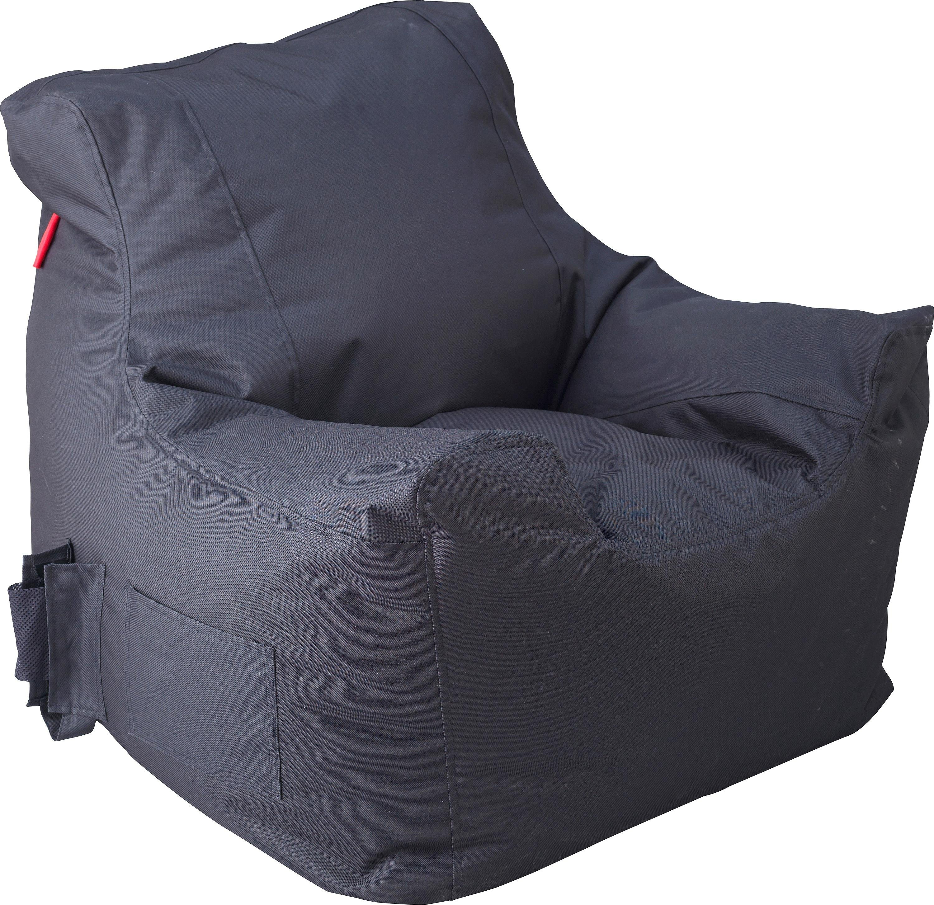 bean bag chairs for teens grey accent with arms buy argos home large fabric teenagers beanbag black