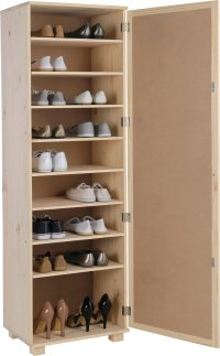 Buy HOME Mirrored Shoe Storage Cabinet - Solid Unfinished ...