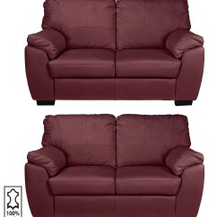 Red Leather Two Seater Sofa Luxury Beds Buy Argos Home Milano Pair Of 2