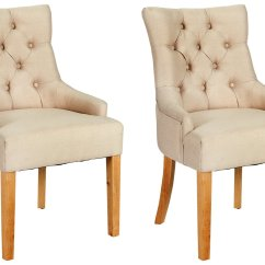 Cream Upholstered Dining Chairs Uk Luxury Folding Heart Of House Pair Cherwell 183