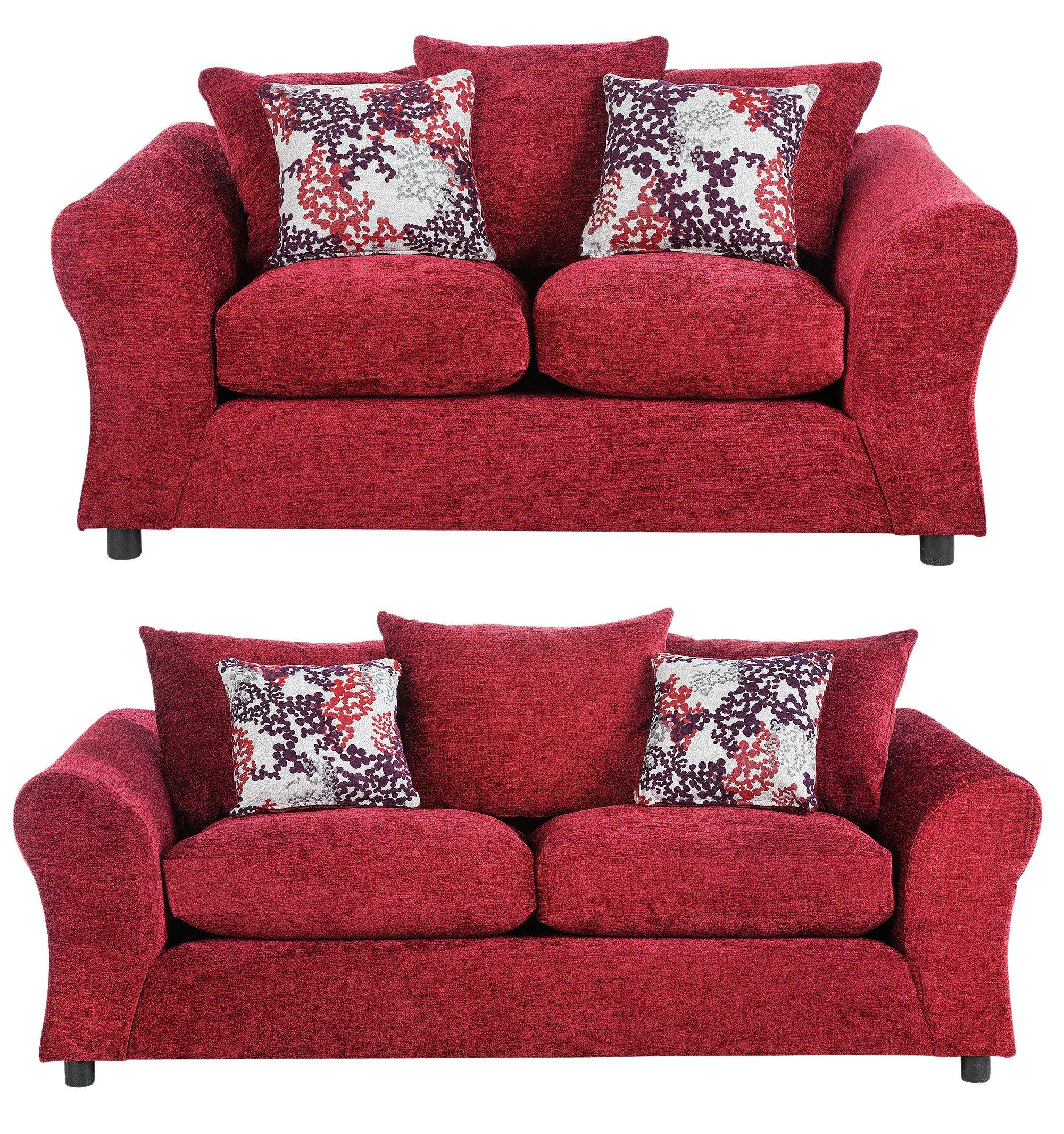 argos ava fabric sofa review mod de no minecraft home clara 3 seat and compact 2 red