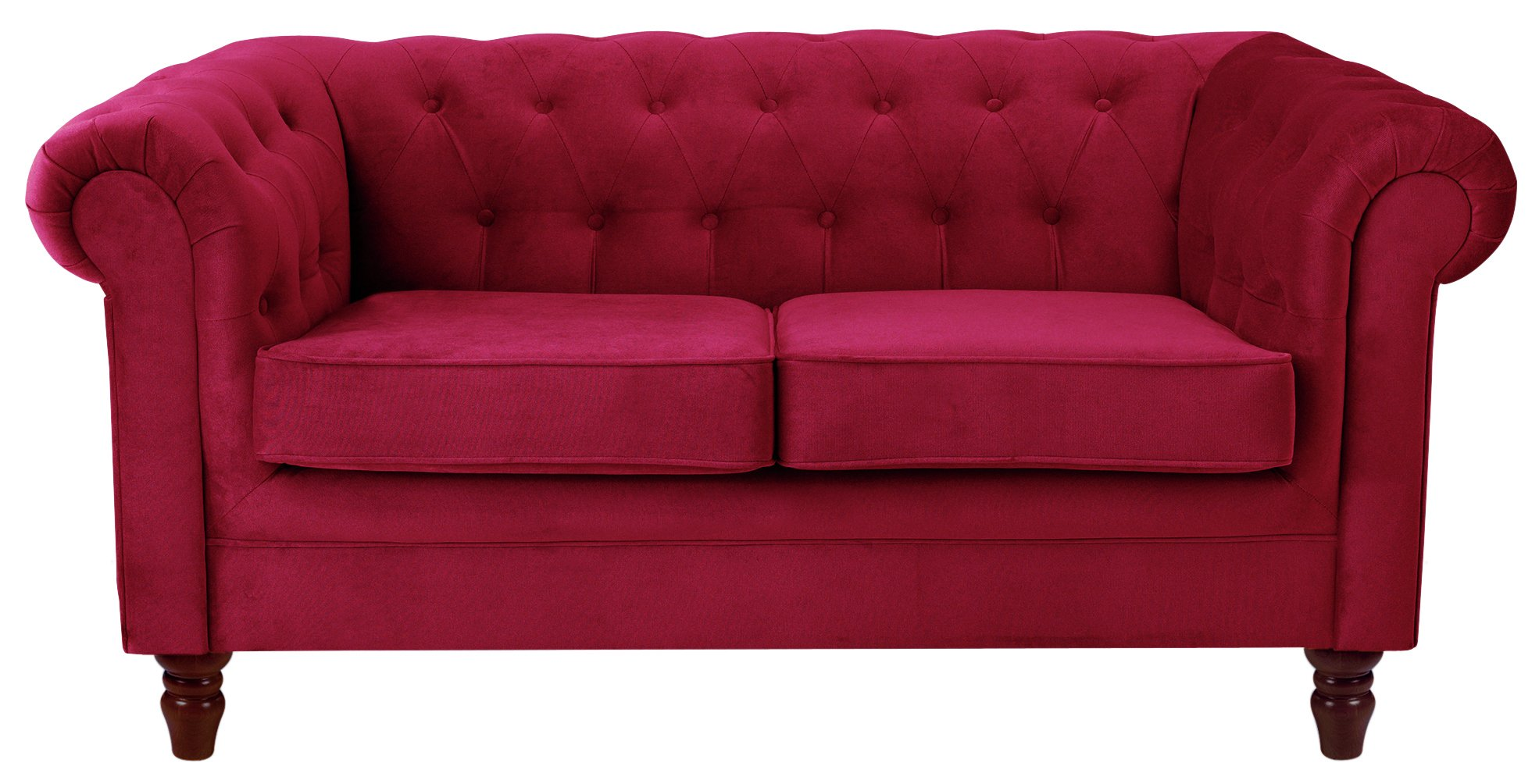 fabric chesterfield sofa argos lexington sofas heart of house 2 seater red
