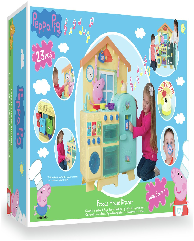pig kitchen corner cabinet buy peppa role play argos