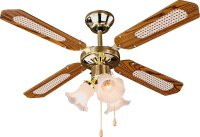 Buy HOME Decorative 3 Light Ceiling Fan - Brass at Argos ...