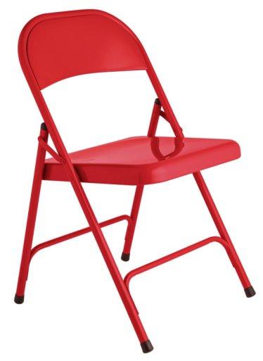 Buy Habitat Macadam Red Metal Folding Chair at Argoscouk