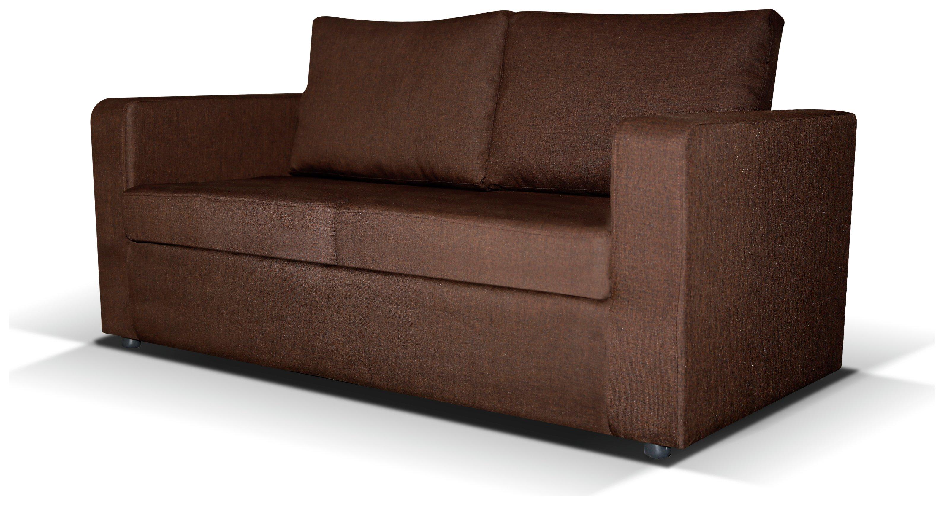 fabric chesterfield sofa argos bizzarto max 2 seater bed chocolate 399 99 octer