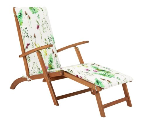 Buy Argos Home Wooden Steamer Chair with Moorland Cushion | Garden chairs and sun loungers | Argos