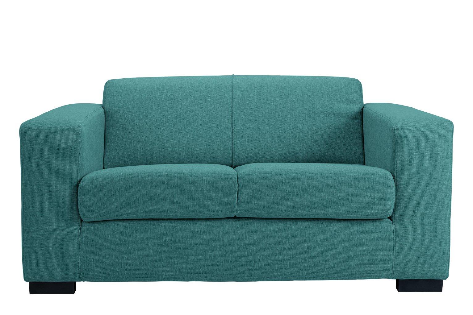 teal sofas beachy buy argos home ava compact 2 seater fabric sofa