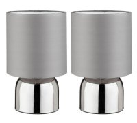 Buy ColourMatch Pair of Touch Table Lamps - Flint Grey at ...