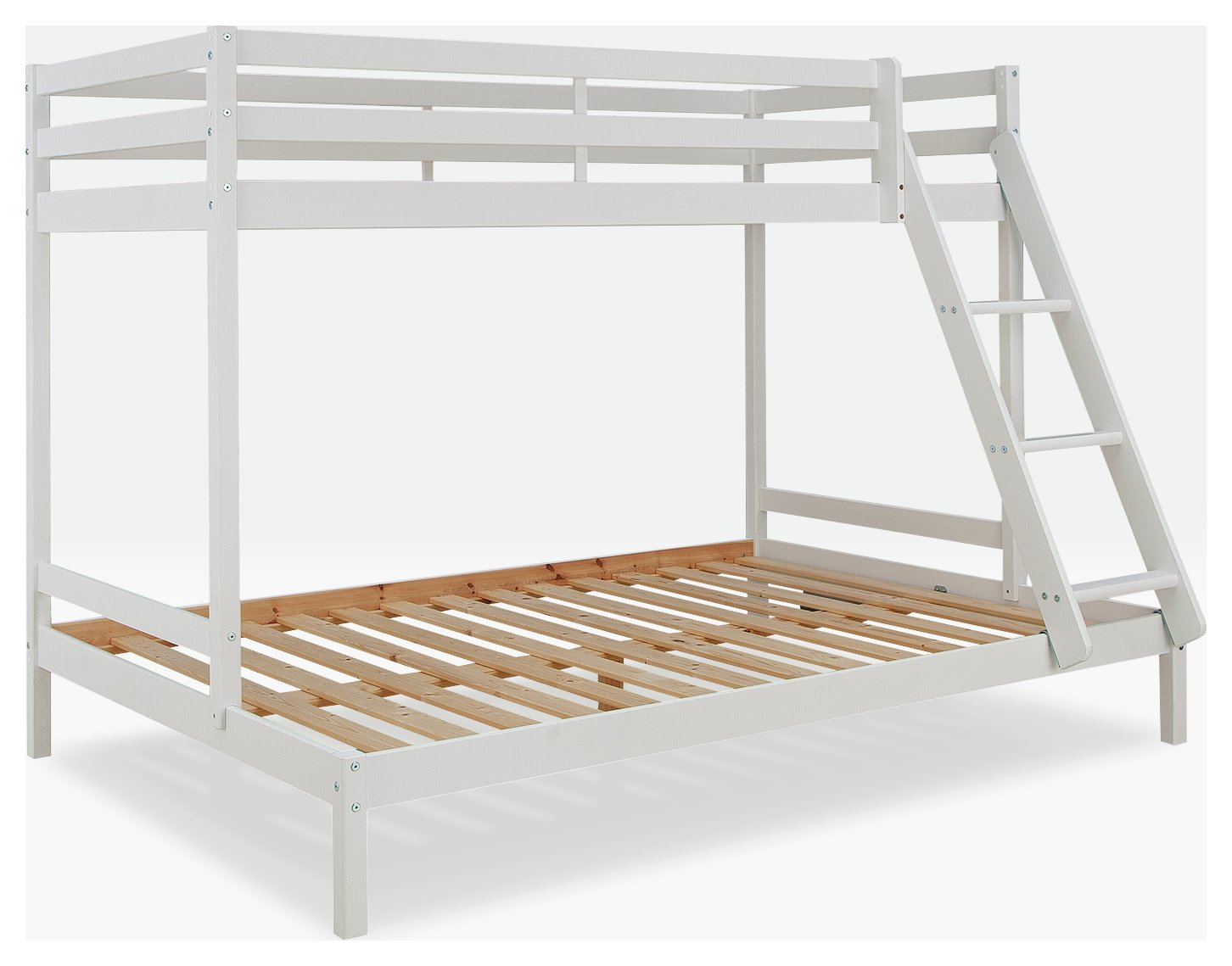 bunk beds with sofa bed underneath argos sleeper for campers buy home kaycie white triple 2 kids mattresses