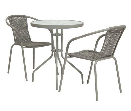 buy argos home 2 seater rattan effect balcony set grey patio sets argos